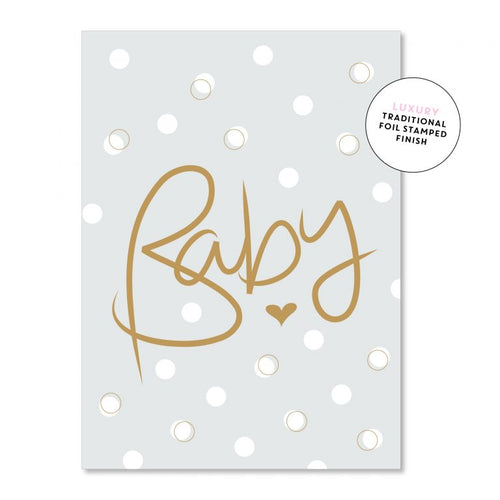 Baby Script Bubbles - Just Smitten Greeting Card