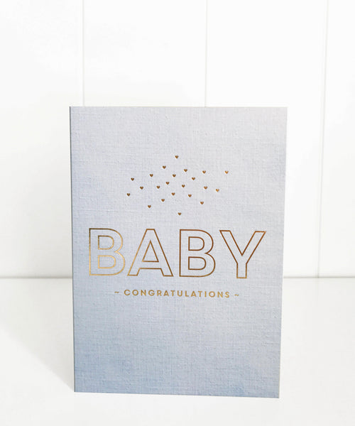 Baby Linen Blue - Just Smitten Greeting Card