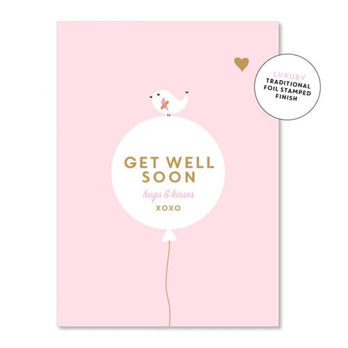 Get Well Soon Pink - Just Smitten Greeting Card