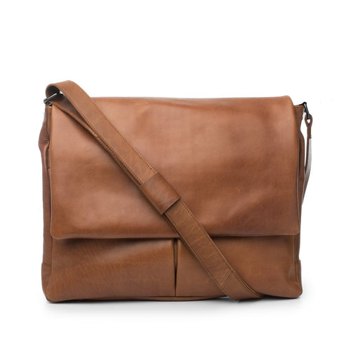 Luca Leather Satchell Bag Dusky Robin