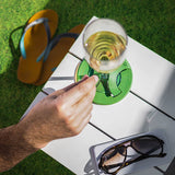 Glass on the Grass | Wine Glass Holder | Bamboo