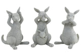 Hear No Speak No See No Evil Set of 3 Kangaroo