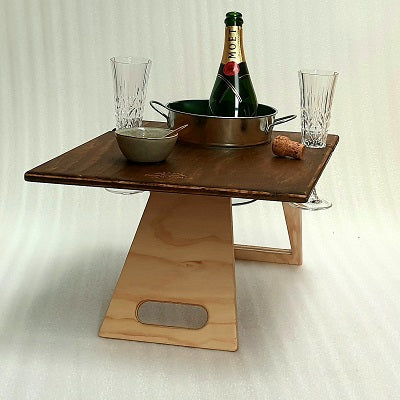 Chill Folding Wine Table | Square | Summer Picnic Tables