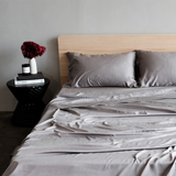 100% Organic Bamboo Sheet Set Steel - Whatever Mudgee Gifts & Homewares