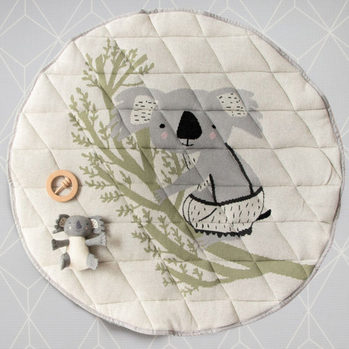 Cotton quilted baby playmat | Koala, sheep, kangaroo & more | Di Lusso Living