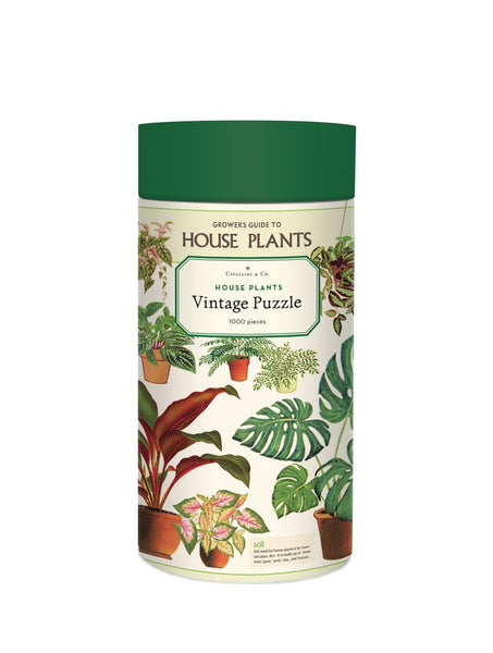 Houseplants Vintage Puzzle 1000 Piece