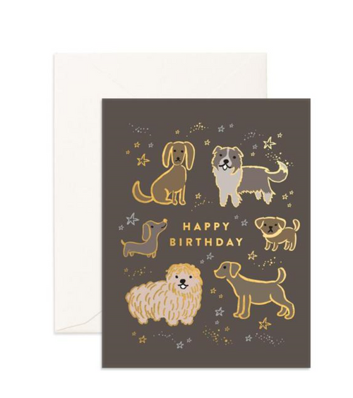 Happy Birthday Dogs - Fox & Fallow Greeting Card
