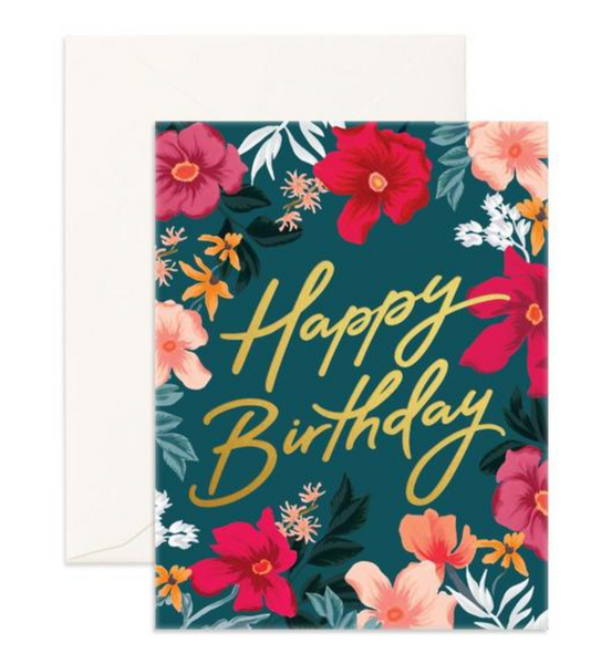 Happy Birthday Florentine- Fox & Fallow Greeting Card