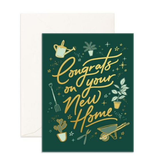 Congrats New Home - Fox & Fallow Greeting Card
