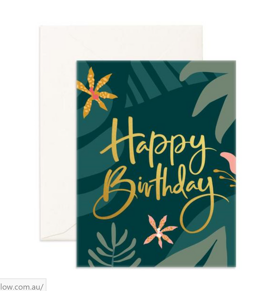 Happy Birthday Jungle - Fox & Fallow Greeting Card