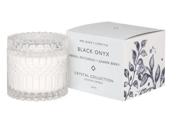 Candle Black Onyx - Neroli, Patchouli + Juniper Berry - Whatever Mudgee Gifts & Homewares