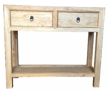 Elm | 2 Drawer Shelf Hall Table