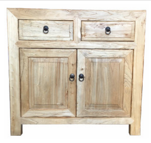Recycled Elm | 2 Drawer 2 Door Cabinet