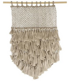 Jute Wall Hanging Macrame - Natural with Tassels - Whatever Mudgee Gifts & Homewares