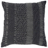 Fersk Cotton Textured Slate Grey Feather Cushion 50x50cm Eadie