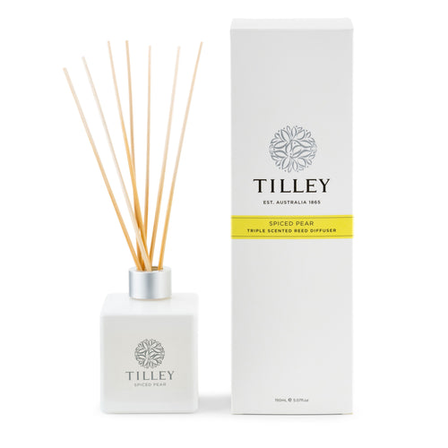 Spiced Pear Aromatic Reed Diffuser 150mL - Tilley