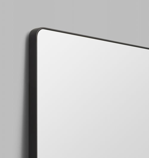Flynn Curved Rectangle Mirror Black