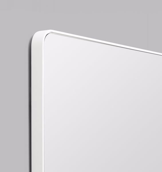 Flynn Curved Rectangle Mirror | White