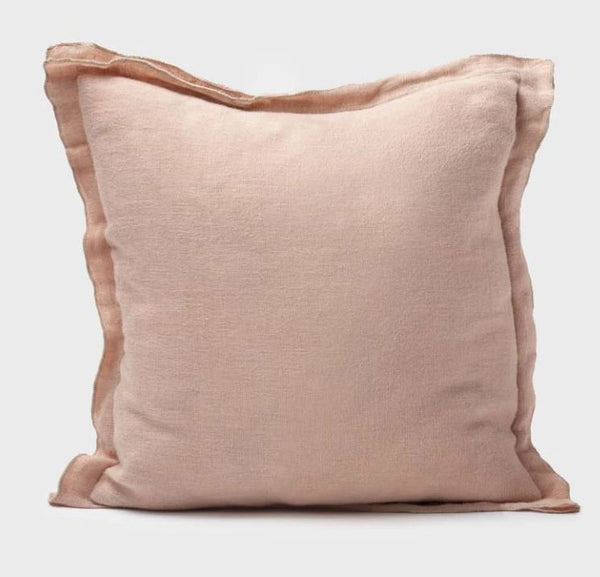 Duple | Linen Feather Cushion | Pink