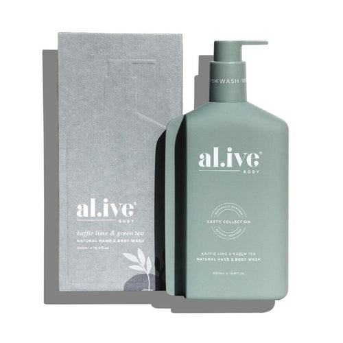 Lotion or Wash Boxed | Kaffir Lime &  Green Tea | Al.ive Body