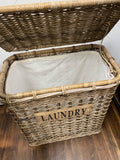 Laundry basket with lid