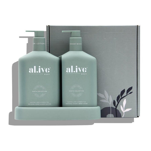 Wash & Lotion Duo + Tray - Kaffir Lime &  Green Tea Al.ive Body