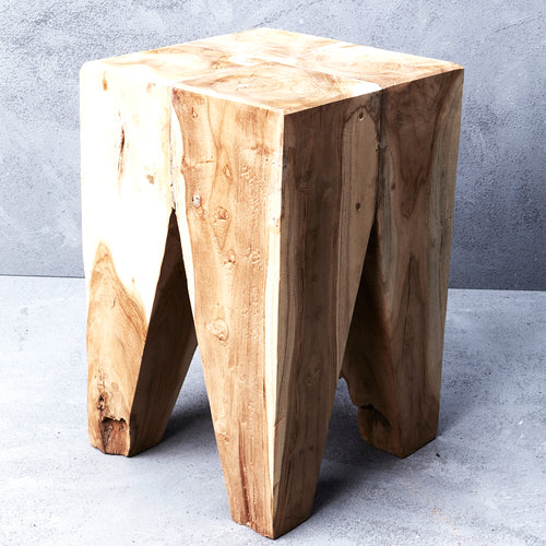 Rafi Peg Wooden Stool - Whatever Mudgee Gifts & Homewares