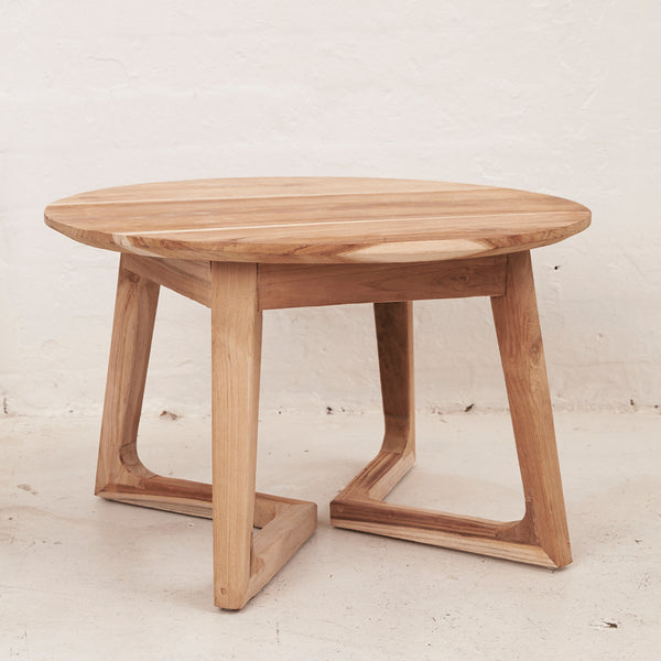 Arlin | Round Teak Side and Coffee Table