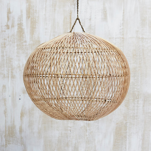 Handwoven Rattan Ball Lightshade - Whatever Mudgee Gifts & Homewares