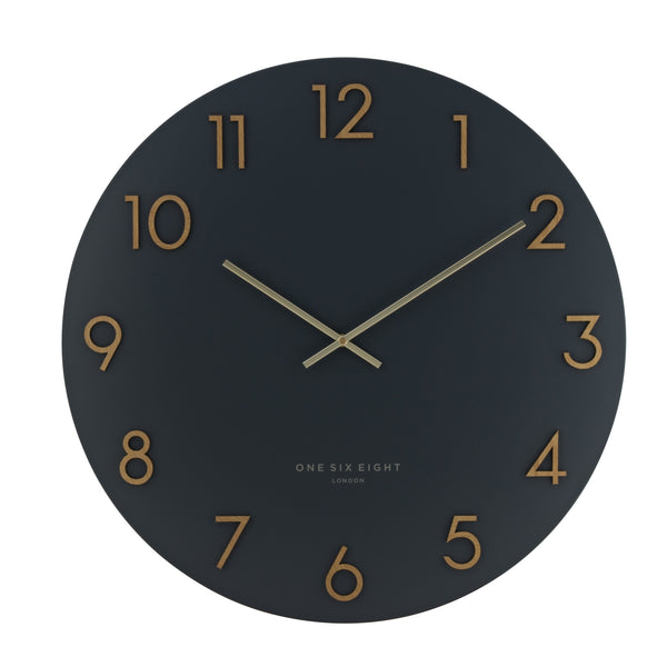 Katelyn Metal Wall Clock | Charcoal Grey | One Six Eight