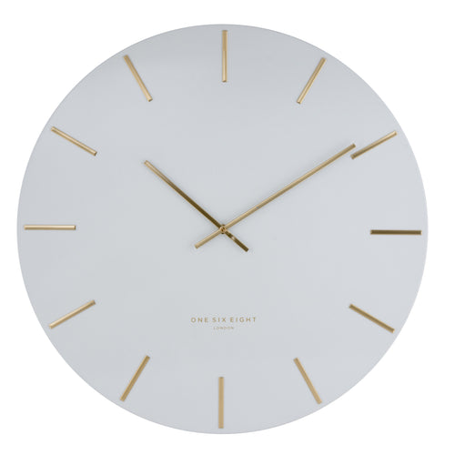Luca Silent Wall Clock | White | One Six Eight