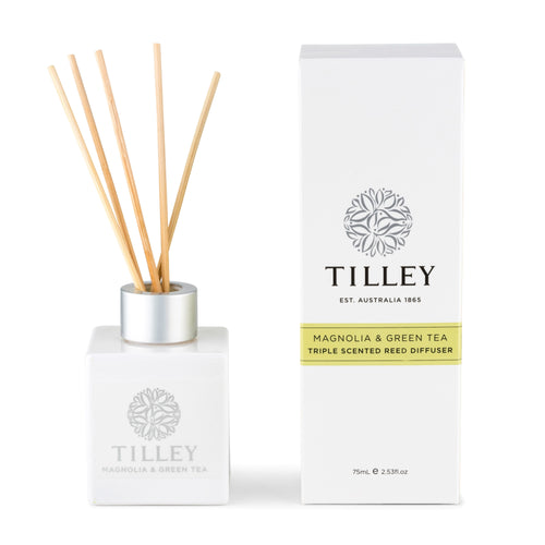 Magnolia & Green Tea Aromatic Reed Diffuser 75mL - Tilley