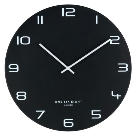 Bjorn Oval thin Black mirror