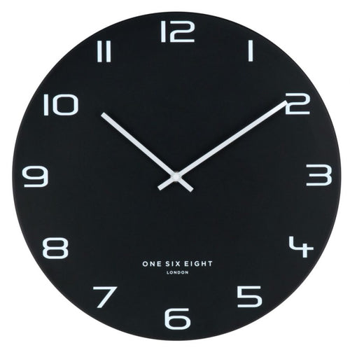 NERO Silent Metal Wall Clock | 2 Sizes | One Six Eight