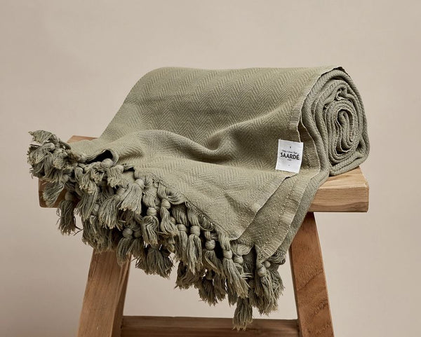 Vintage Wash |  Cotton Flax Blanket Throw
