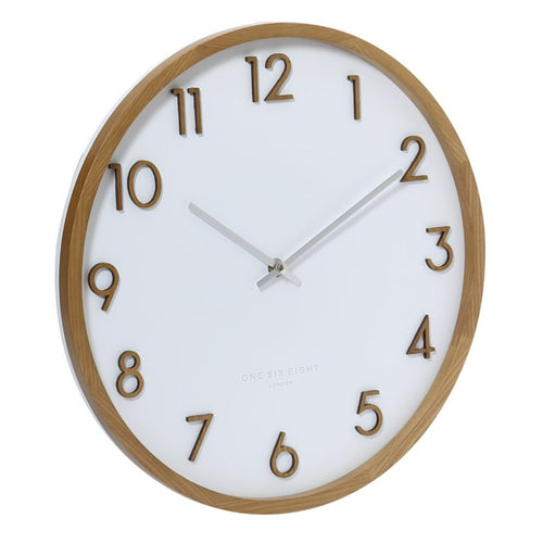 SCARLETT Silent Wall Clock White