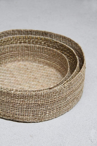 Trio of Grass Baskets Low - Dharma Door