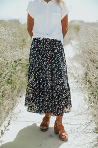 Eliza Skirt in Navy- RESTOCKED