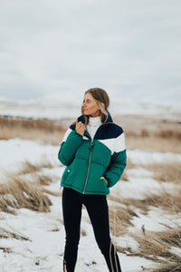 Montreal Puffer Coat in Green