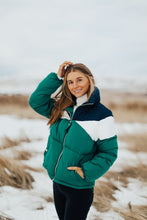 Load image into Gallery viewer, Montreal Puffer Coat in Green