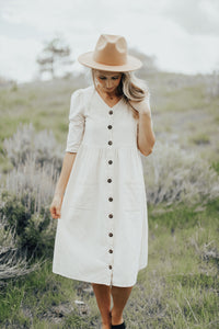 Emmy Button Down Dress- RESTOCKED