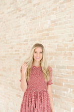 Load image into Gallery viewer, Charlotte Smocked Dress in Burgundy