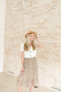 Nutmeg Midi Skirt