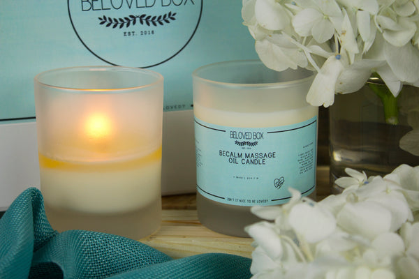 BeCalm Massage Oil Candle