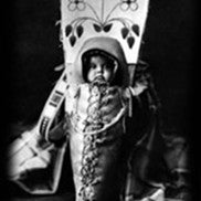baby in a traditional Native American style baby carrier
