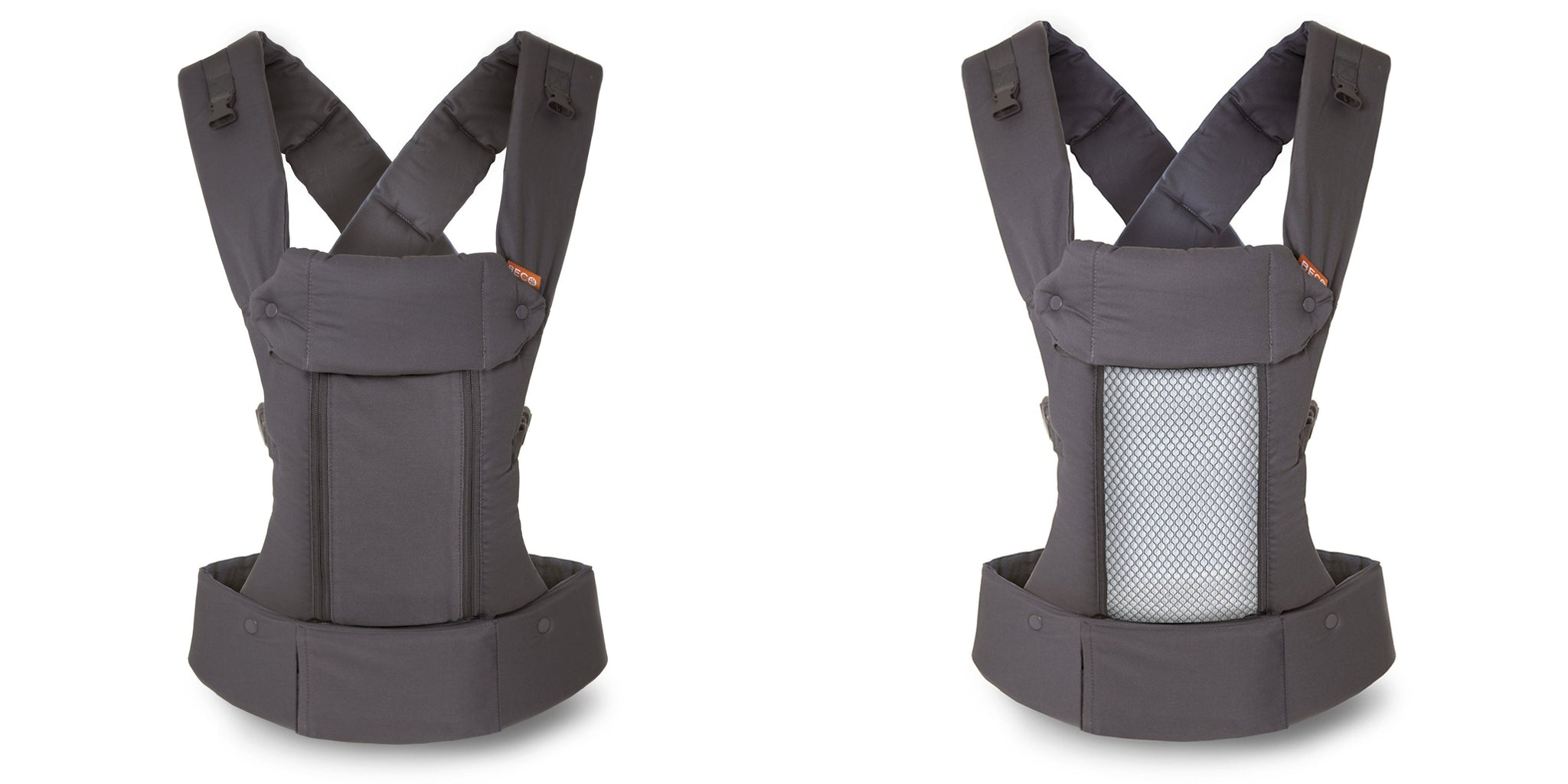 Supportive and Adaptable Carrier for Babies from 7 Dark Grey Cool Cotton 45 lbs Beco 8 All-in-One Baby Carrier