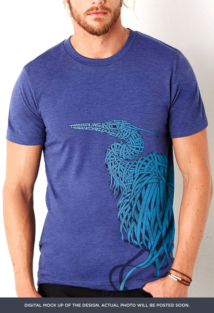 Great Blue Heron T-shirt by Done.Creative