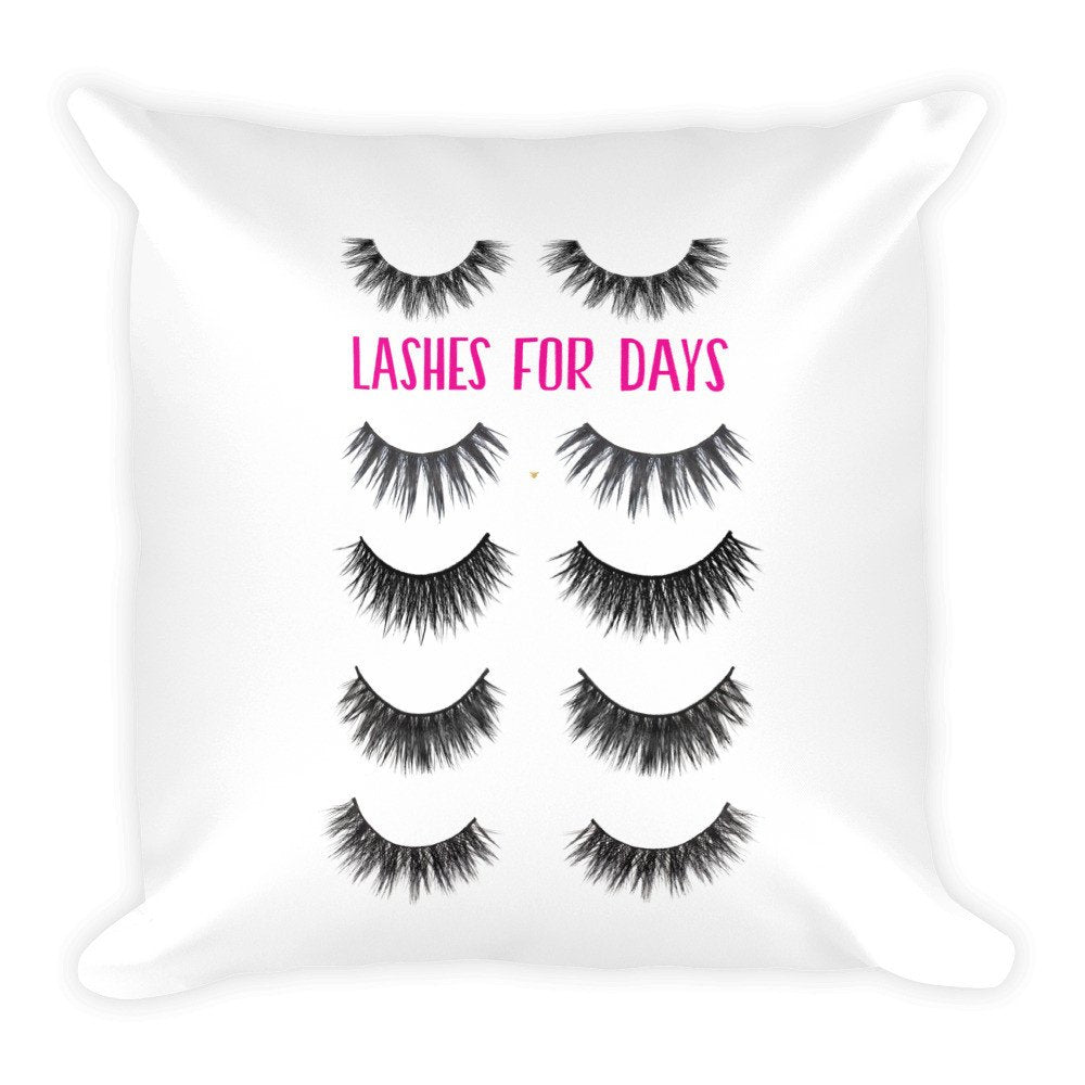 Lashes for Days Pillow