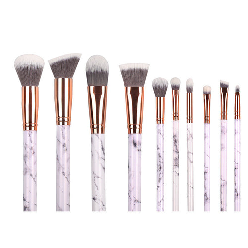 Marble - 10 Piece Makeup Brush Collection