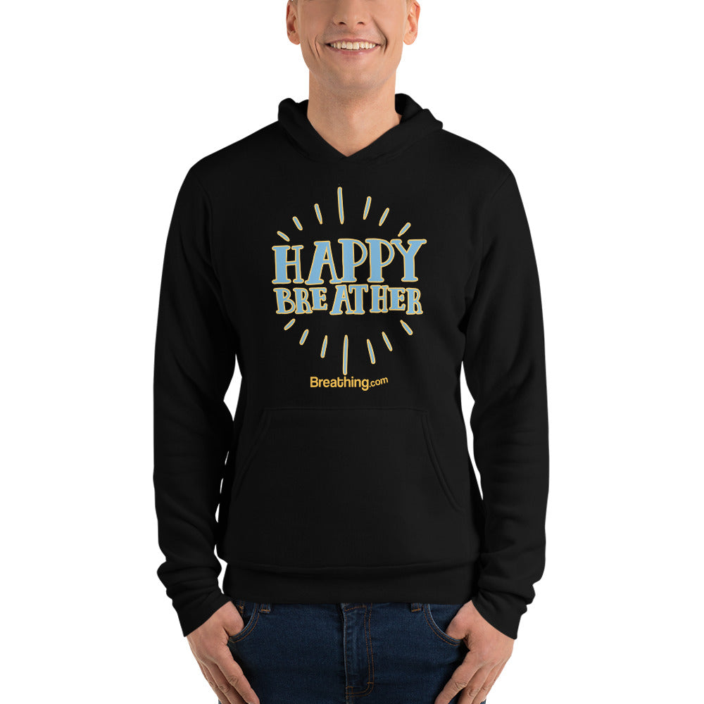 Unisex Fleece Pullover Hoodie - Happy Breather - Breathing.com
